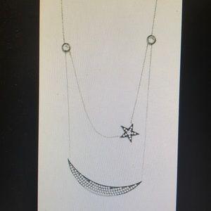 Vanessa Mooney Crescent Moon and Star Necklace